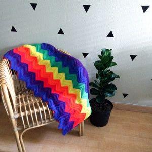 Chevron Rainbow Pride Afghan